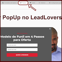 Configurando PopUp de Captura do LeadLovers no WordPress